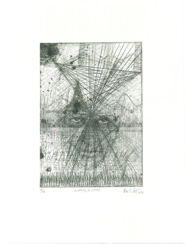 Bevan de Wet, 2013, Subtly, A Noise, etching, 35x26,5cm